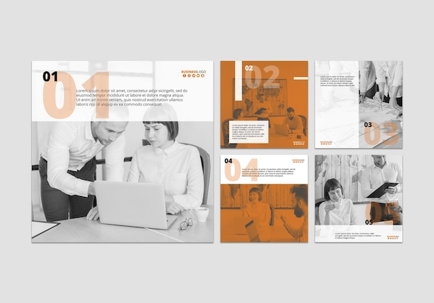 Business stationery template set Free Psd