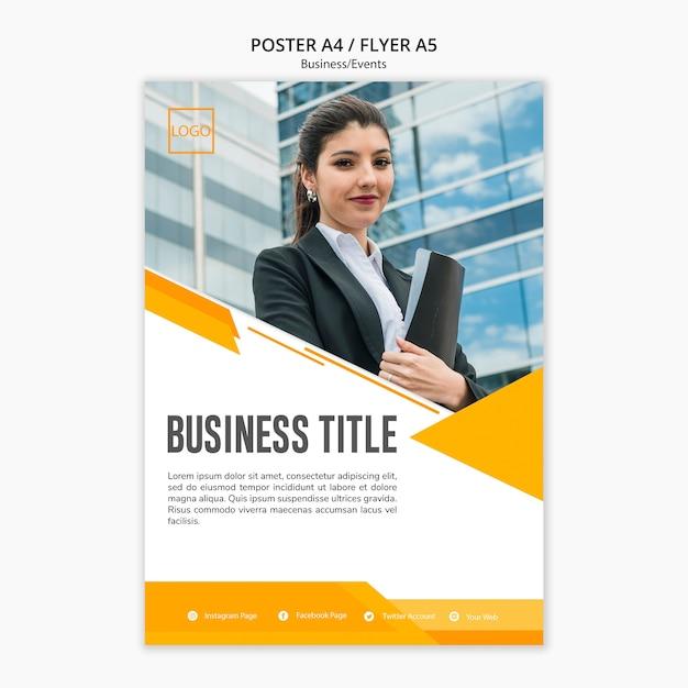 ビジネステンプレートのモダンなデザイン 無料 Psd