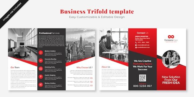 Business trifold brochure template mockup Premium Psd