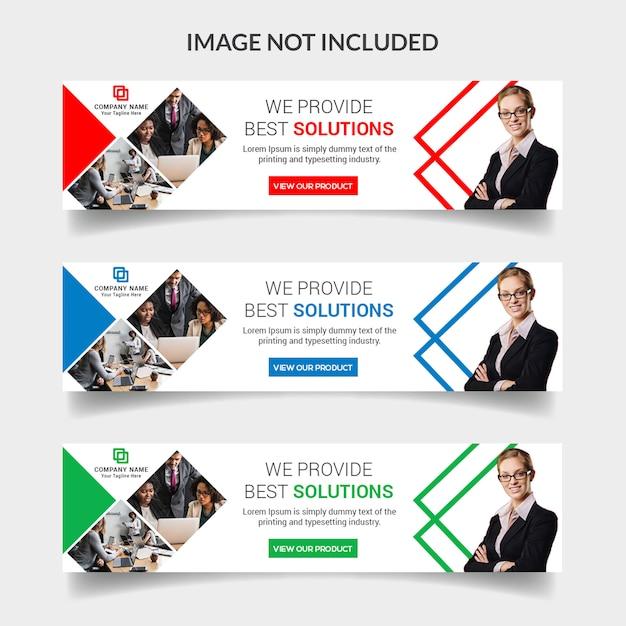 Business web banner design Premium Psd