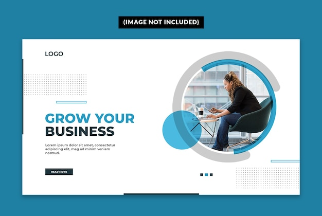 Business web banner template Premium Psd