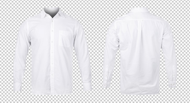 Business or white blue shirt, front and back view mock-up template for your design. Premium Psd