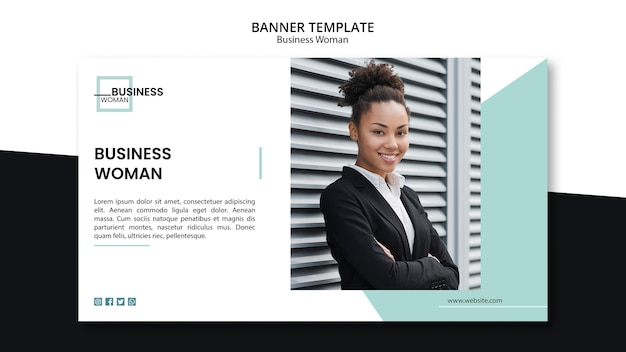 Business woman concept for template Free Psd