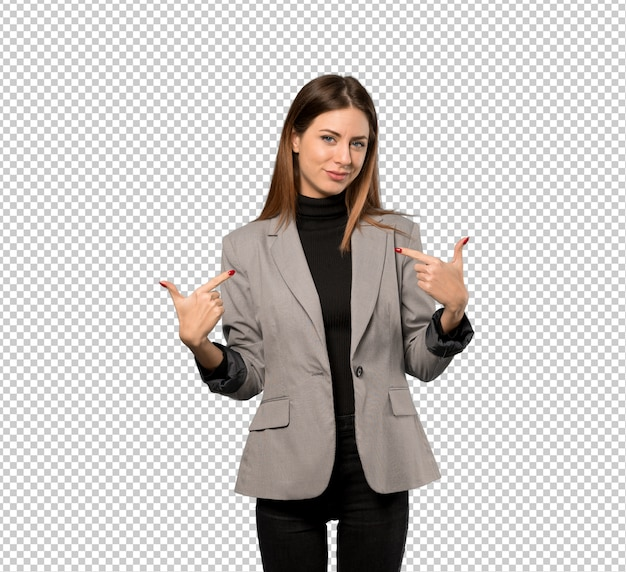 Business woman proud and self-satisfied Premium Psd