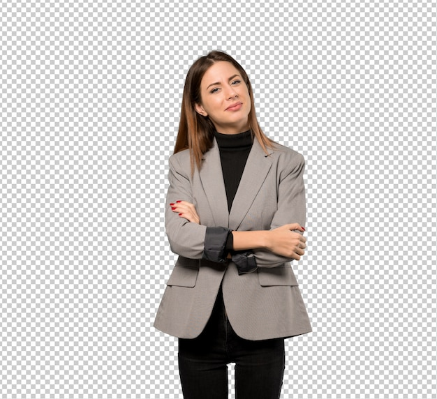 Business woman smiling Premium Psd
