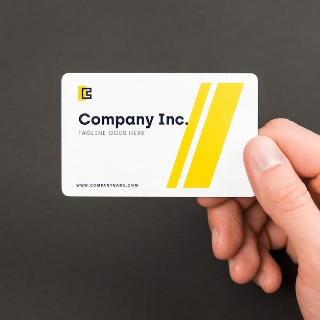 Бизнесмен с макетом визитной карточки Бесплатные Psd