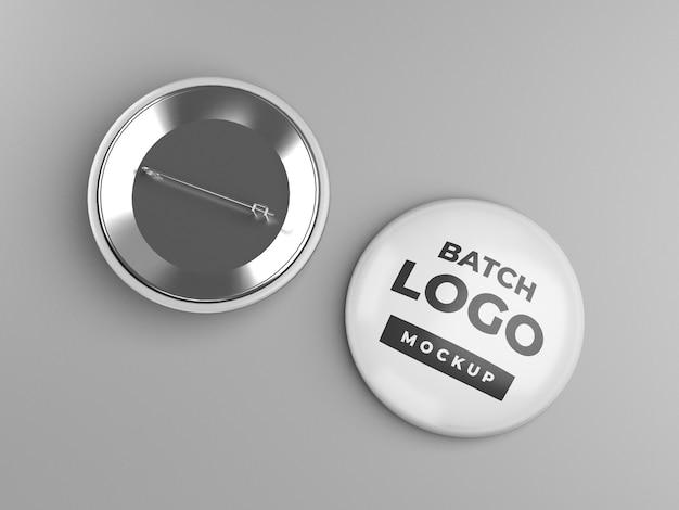 Button badge or pinback mockup design, front and back view Premium Psd