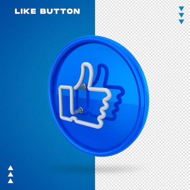 Button like neon Premium Psd