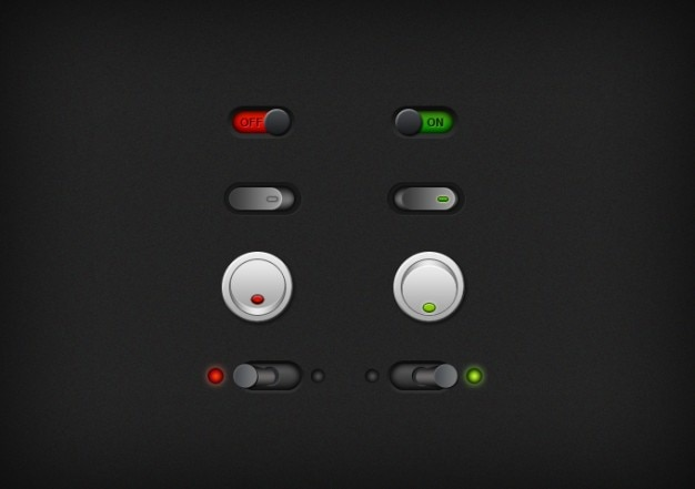 buttons dark no switch switches toggle ui yes psd file