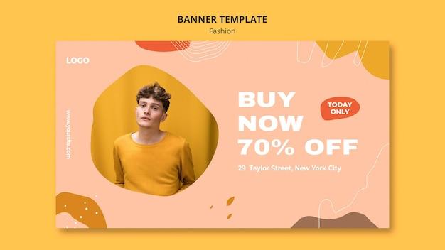 Acquista ora modello di banner di moda maschile Psd Gratuite