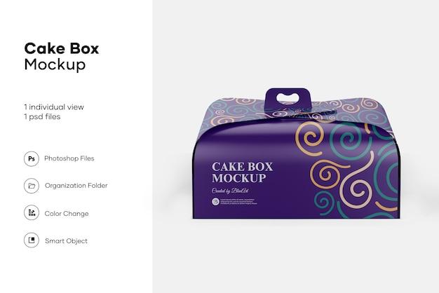 케이크 상자 이랑 디자인 절연 프리미엄 PSD 파일