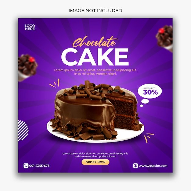 Cake social media banner template Premium Psd