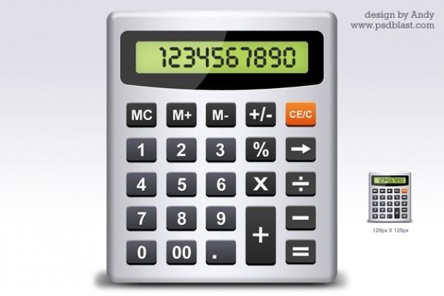 Калькулятор значок psd Бесплатные Psd