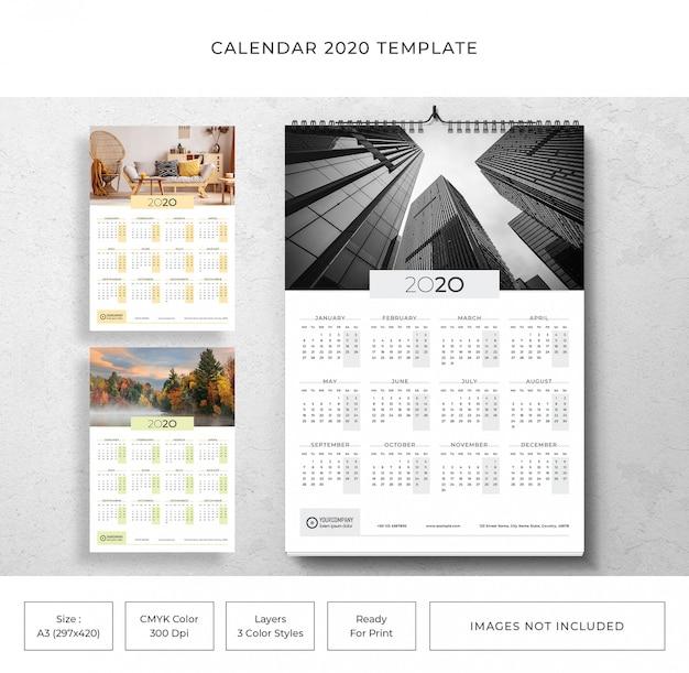 Calendar 2020 template Premium Psd