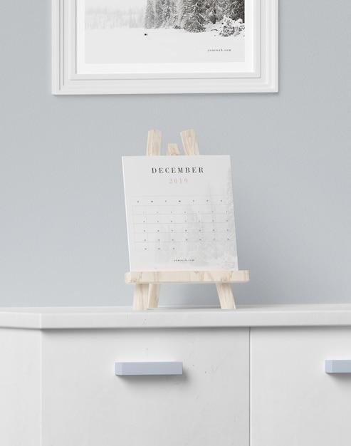 Календарь поддержки процесса рисования Бесплатные Psd