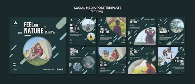 Camping place social media post template Premium Psd