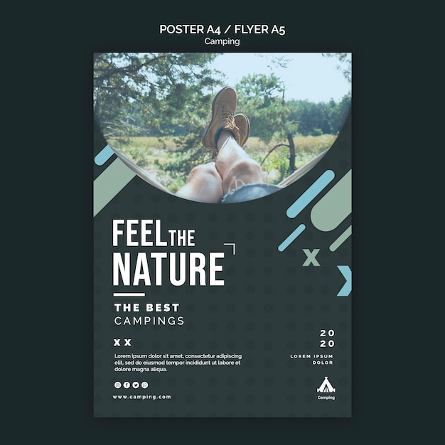 Camping place template flyer Free Psd