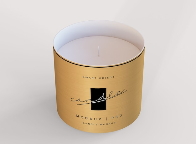 Candle mockup Free Psd