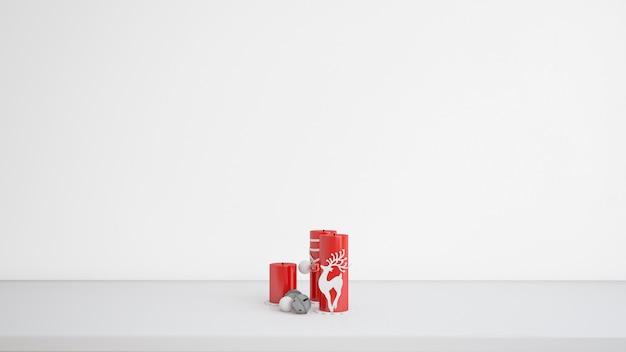 クリスマスデザインのキャンドル 無料 Psd