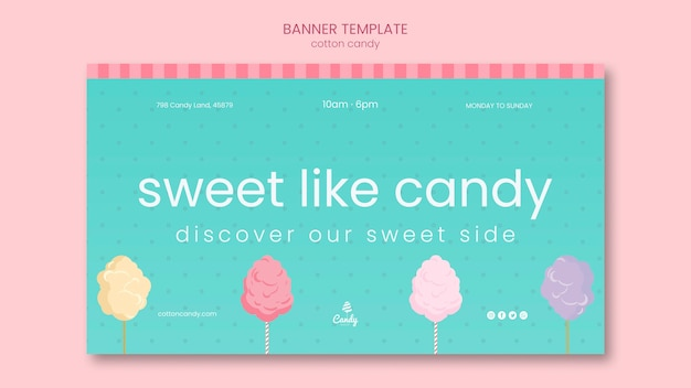 Candy shop banner template Free Psd