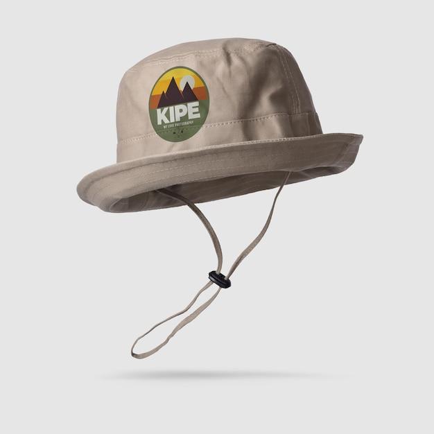 分離されたキャンバスバケット帽子モックアップ Premium Psd