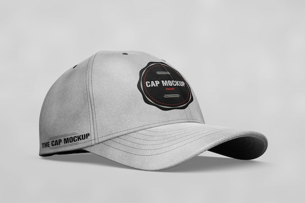 e5c3557ed64 Cap mock up lateral view PSD file