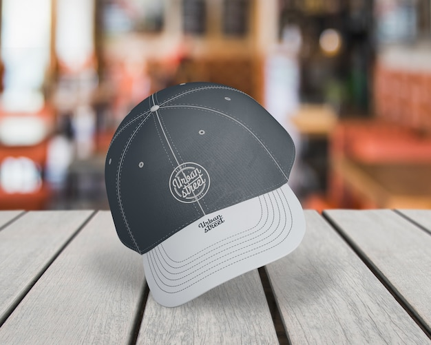 Cap mockup for merchandising Free Psd