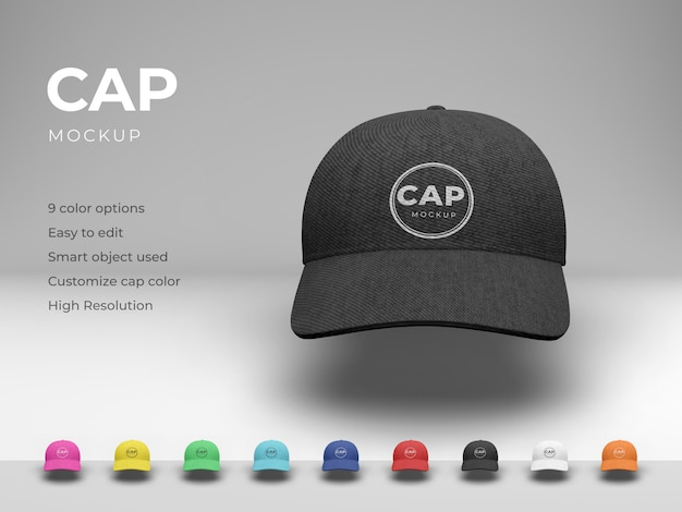 Cap mockup Premium Psd