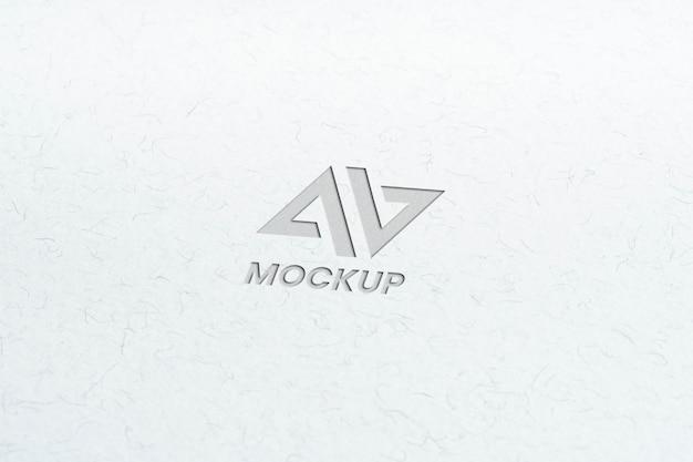 Дизайн логотипа макета заглавной буквы на минималистской белой бумаге Бесплатные Psd