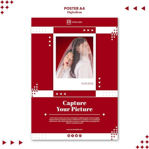사진 포스터 인쇄 템플릿 캡처 무료 PSD 파일