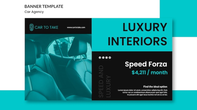Car agency ad banner template Free Psd