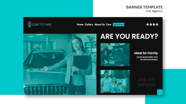 Car agency banner template Free Psd