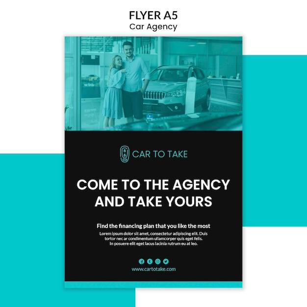 Car agency flyer template Free Psd