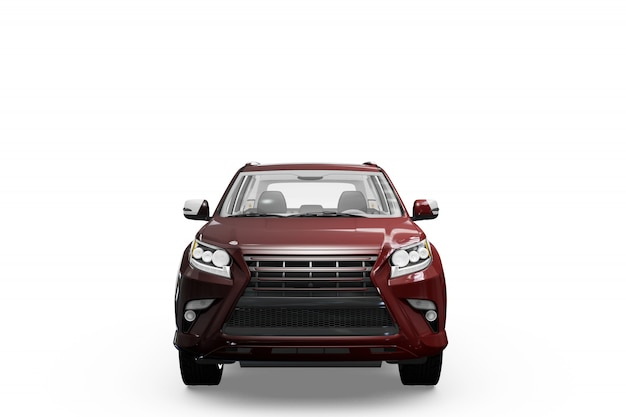 Car mock-up isolated design Free Psd