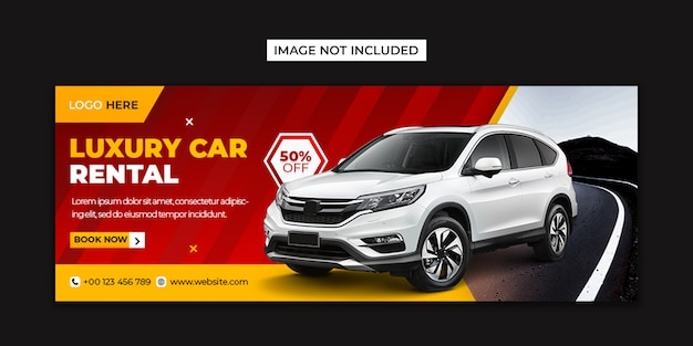 Car rental social media and facebook cover template Premium Psd