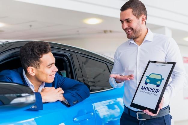 車の売り手と買い手のモックアップ 無料 Psd