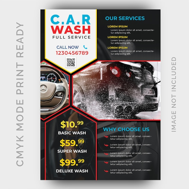 Car Wash Business Flyer Design Template Psd File Premium Download