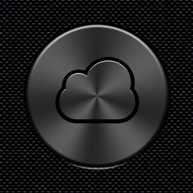 Углеродного волокна облако значок металлический Бесплатные Psd