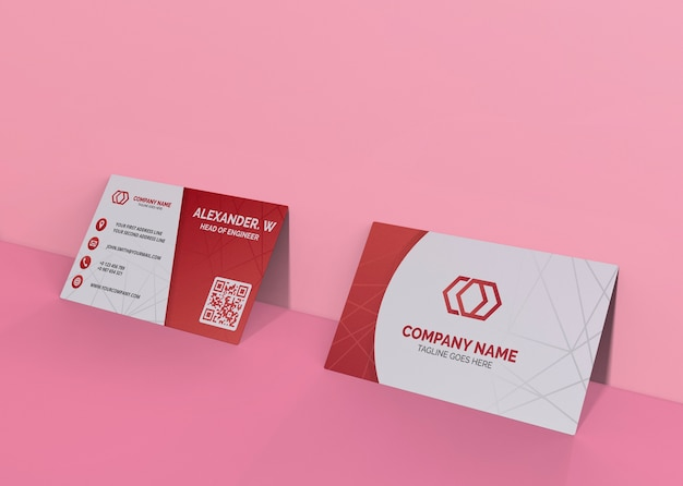Card brand company business mock-up paper Free Psd