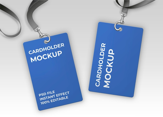 Card holder mockup Free Psd