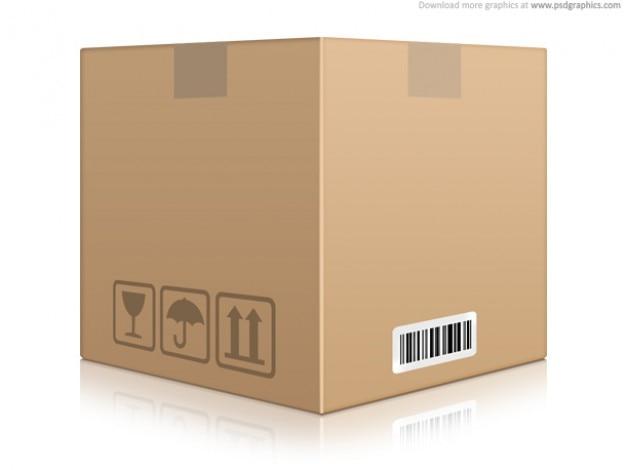 Cardboard box icon (psd) Free Psd