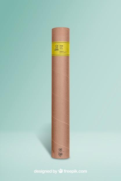 Cardboard tube mockup Premium Psd
