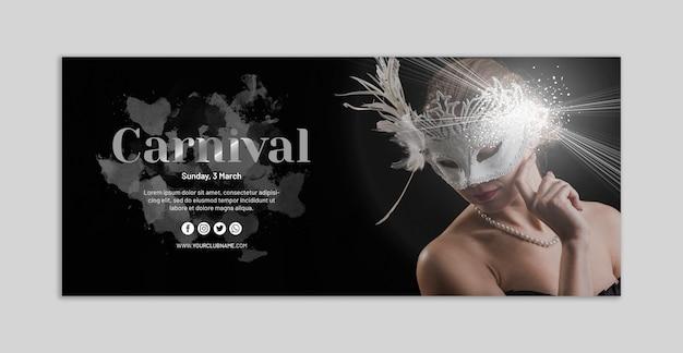 Carnival banner mockup Free Psd