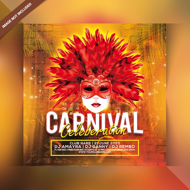 Carnival celebration party flyer Premium Psd