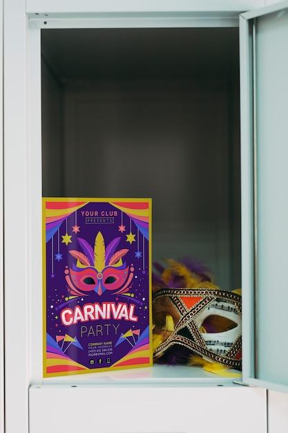 Carnival flyer mockup Free Psd
