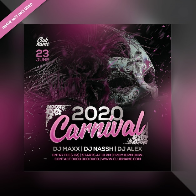 Carnival party flyer Premium Psd