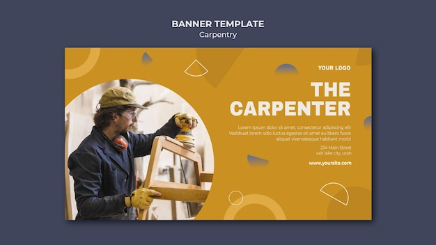 Carpenter ad banner template Free Psd