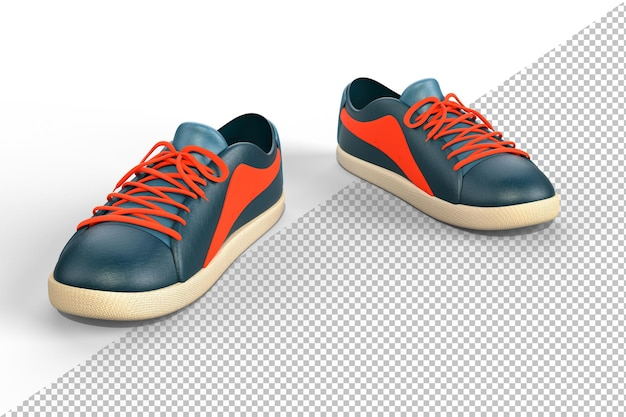 Casual sneakers shoes on white Premium Psd