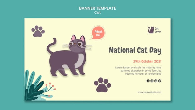 고양이 입양 배너 서식 파일 무료 PSD 파일
