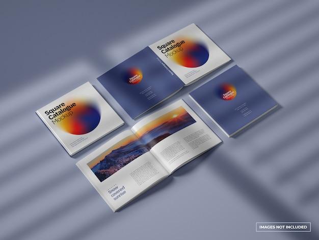 카탈로그 및 잡지 모형 프리미엄 PSD 파일